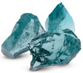 BRYŁY SZKLANE szkło gabionowe kamień lawa