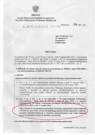 Aldekol Des FF zwalcza ASF 25l (2)