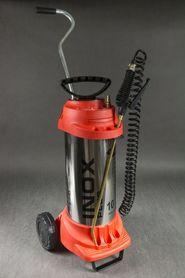 Stalowy opryskiwacze ciśnieniowe (6 bar) INOX 10l + wózek