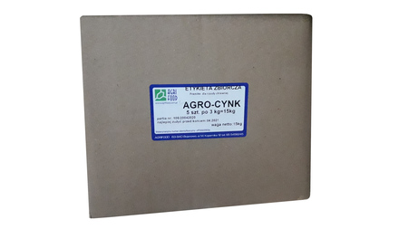 Agro-cynk ,dodatek paszowy z tlenkiem cynku  kartonik 5x3kg (1)
