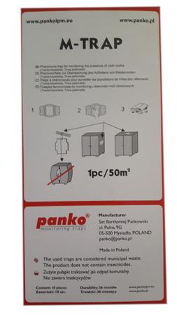 Pułapka lepowa z feromonem na mole odzieżowe 5szt (2)
