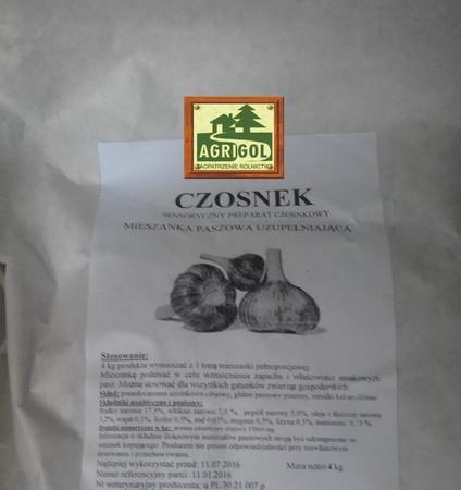 Czosnek, Sensoryczny preparat czosnkowy dla bydło trzoda drób 4kg (2)