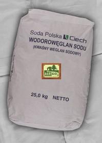 KWAŚNY WĘGLAN SODU wodorowęglan sodu op. 25kg jakość FARMACEUTYCZNA