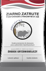 ZIARNO ZATRUTE fosforkiem cynkowym 01 AB środek gryzoniobójczy w postaci ziarna 500G