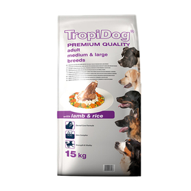TROPIDOG ADULT MEDIUM LARGE LAMB 15 KG
