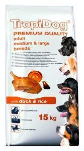 TROPIDOG ADULT MEDIUM LARGE DUCK 15 KG