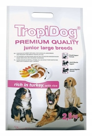 TROPIDOG PREMIUM Junior Large Turkey Rice 15kg